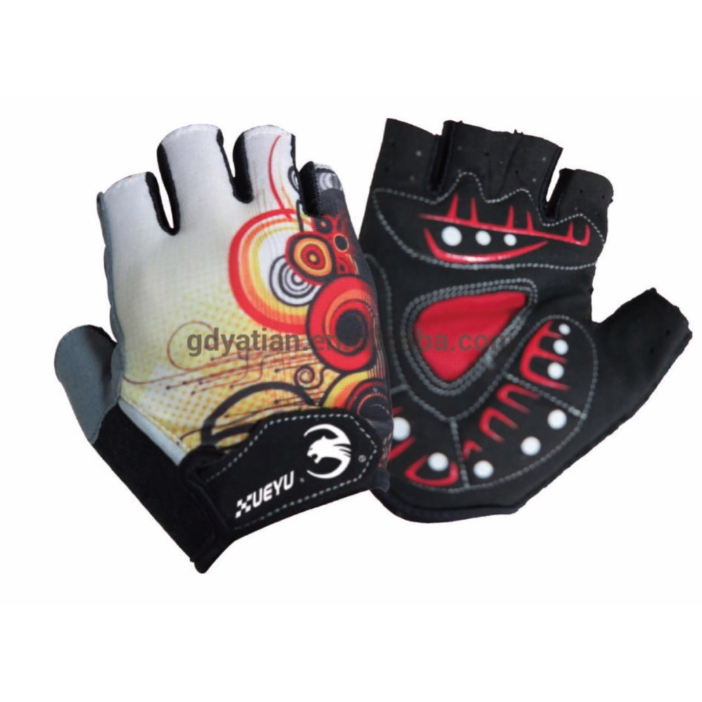 Custom made sports motorbike riding half finger gloves