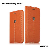 New Arrival High Quality XUNDD Genuine Leather Phone Case For iPhone 6 Case