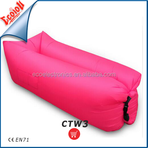 New products on china market self inflating pink inflatable sofa with good price