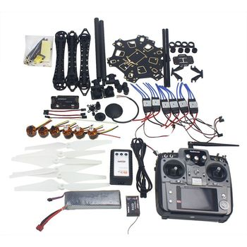 Full Set RC Drone 6-axle Aircraft Kit HMF S550 Frame 6M GPS APM 2.8 Flight Control AT10 Transmitter F08618-Q