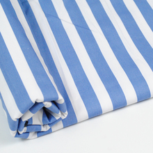 cheap 100% cotton printed blue white stripe fabric for hospital patient clothing