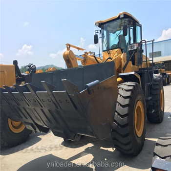 Hydrodynamic YN958G filter 5tonSudanZL50 Yineng loader shan dong Cat engine YN wheel loader with grass grasper /clamp Shan dong