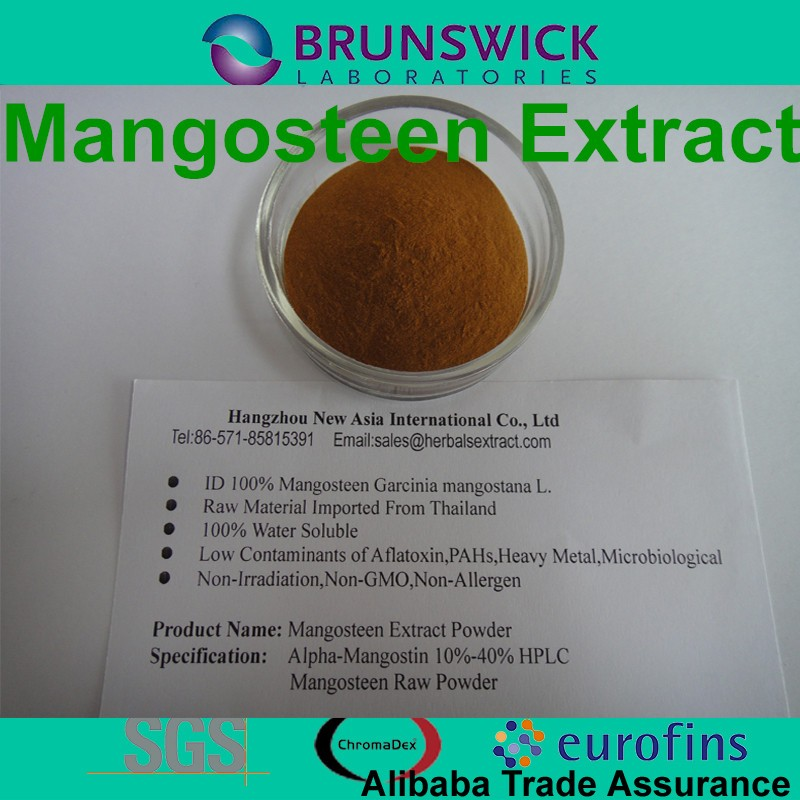 Pure Mangosteen Extract,Alpha-Mangostin 10%, 20%, 30%,40% HPLC,ID 100%,Low Contaminants of Aflatoxin,PAHs,Non-Irradiation
