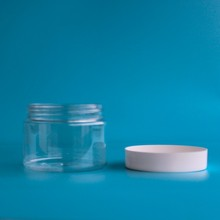 4 OZ clear PET plastic jar containers for cream