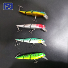 High quality 3 jointed ABS Fishing Minnow Lure