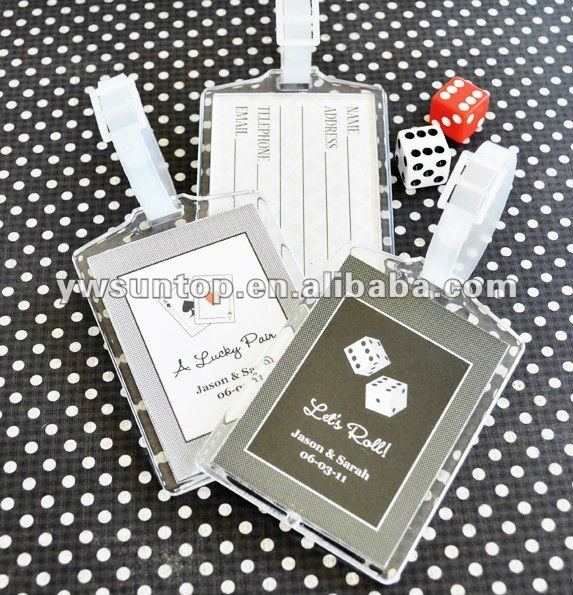 Vegas Acrylic Luggage Tags wedding favors