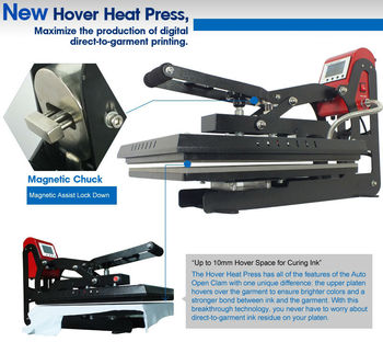 Microtec Patent Hover Heat Press, for Curing Ink Sublimation Machine