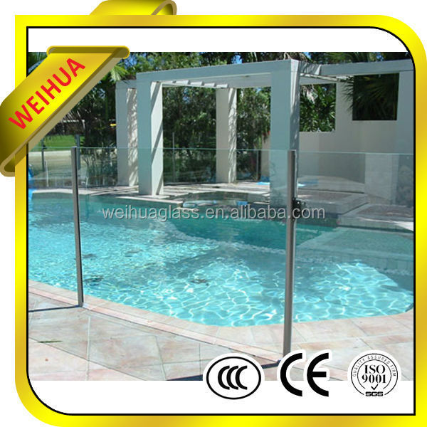 high quality clear deck railings tempered glass with CE/CCC/SGS/ISO