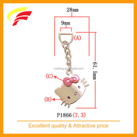 fashion hello kitty shaped zinc alloy pendant for belt bag and garment