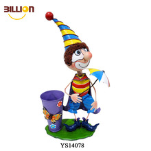 Metal Crafts Cartoon Clown Flower Pot Tall Planter