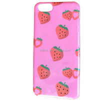 Summer Full cover Strawberry fruit case for iPhone 7,cute soft tpu case Cover Phone Case for iPhone 6/6 p/7/7p/8