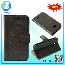 Stylish fancy high quality leather wallet hard case for lg optimus l7 ii dual p715