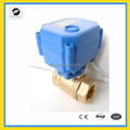 CWX15N 2 Way Brass or Stainless Steel Mini Electric Motor Valve for water leakage detector equipment