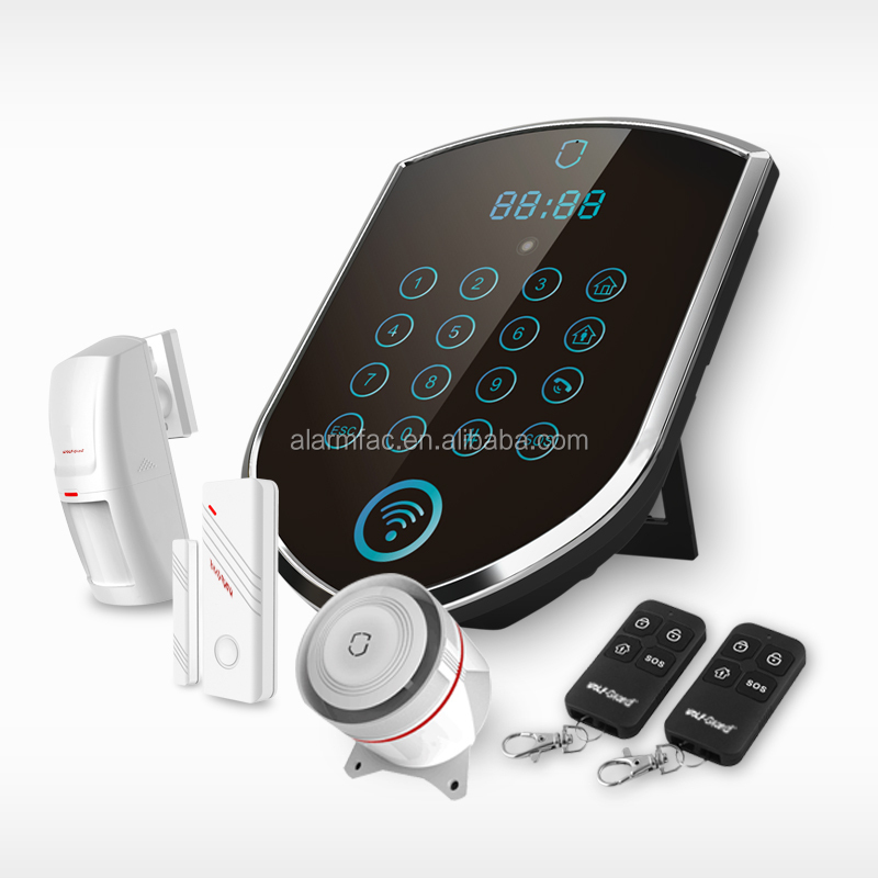 Best 2016 newest security alarm system WIFI/GPRS/GSM smart home alarm with Android /IOS APP control