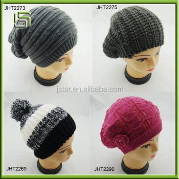 Top sale fashion 2014 winter knitted hat for women