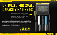 High quality rechargeable batteries Li-ion/Ni-MH/Ni-Cd Nitecore D2 charger18650 battery charger with LCD Screen