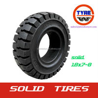 18x7-8 Qingdao factory bias solid tire/tyres used in forklift /industrial vehicle