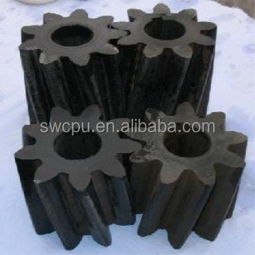 Plastic helical gear wheels