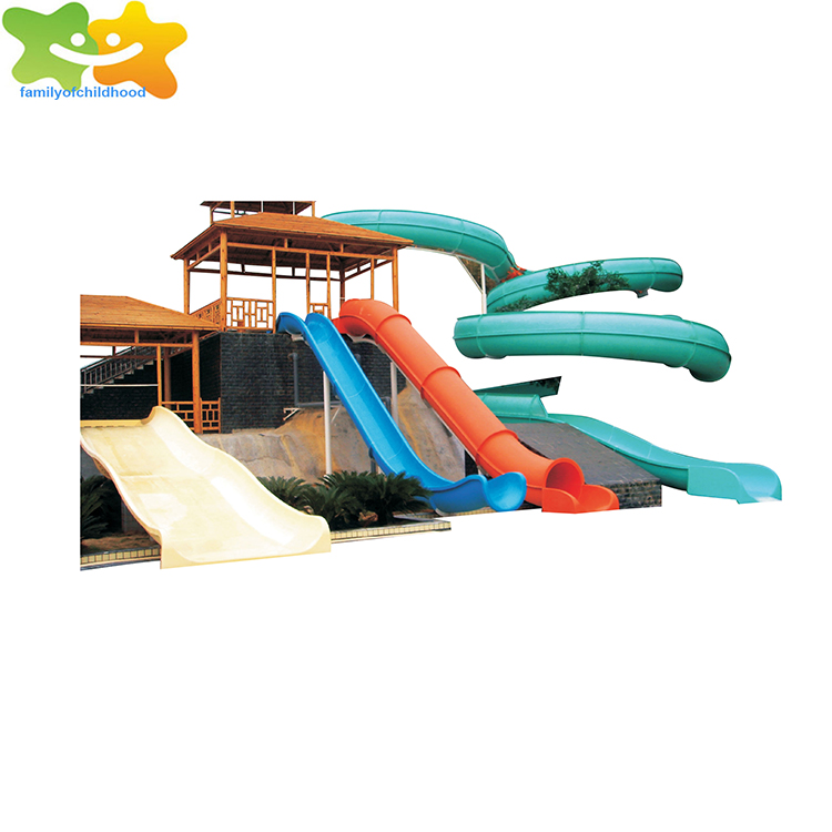 fiberglass water park pool tube slides for sale