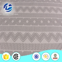 2016 Elegant african poly crochet lace fabric with stones for fashion show