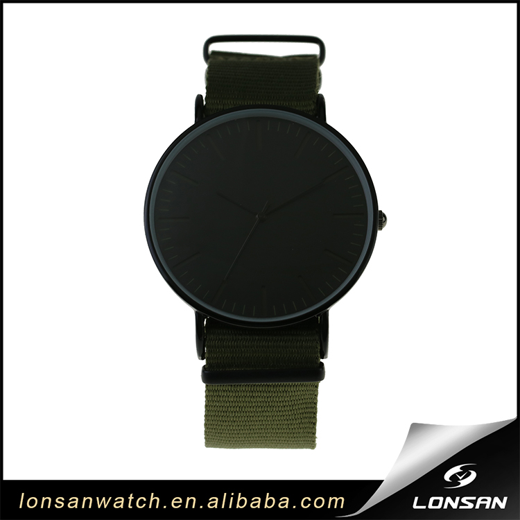 low price Support ODM OEM army green alloy case nylon strap men custom fashion band nylon watch strap