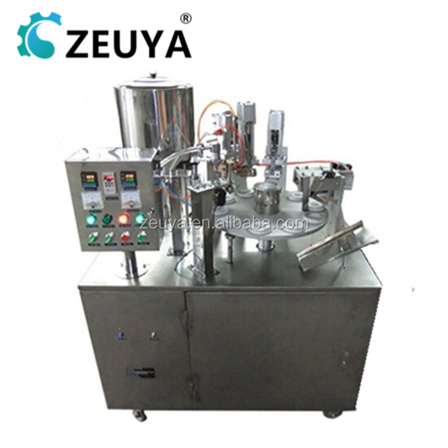 Hot Sale Automatic tube filling sealing machine for cheap lip balm container CE Approved ZY-400A