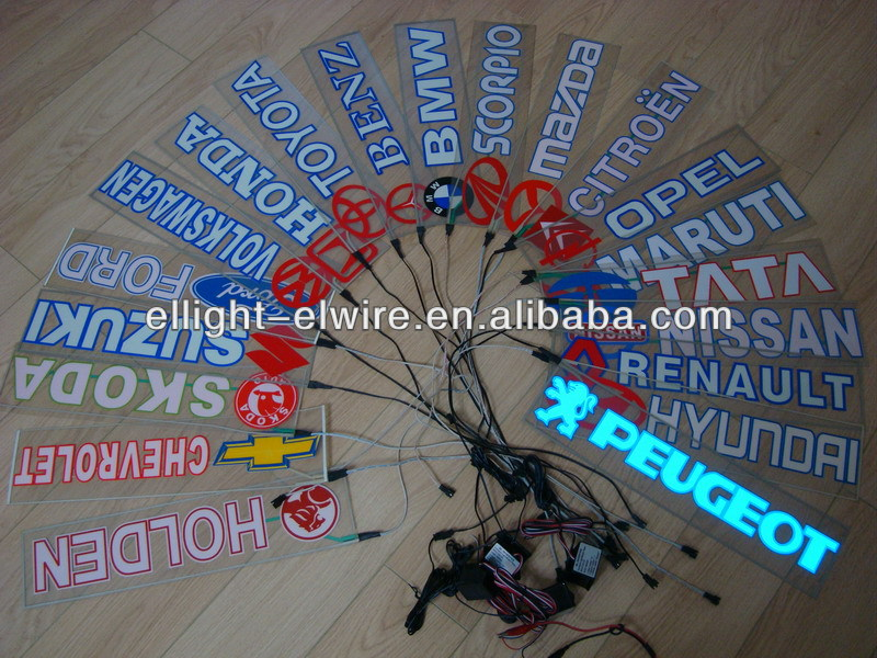 Special Customize High Quality&High Brightness el car sticker/el flashing car sticker/equalizer el car sticker