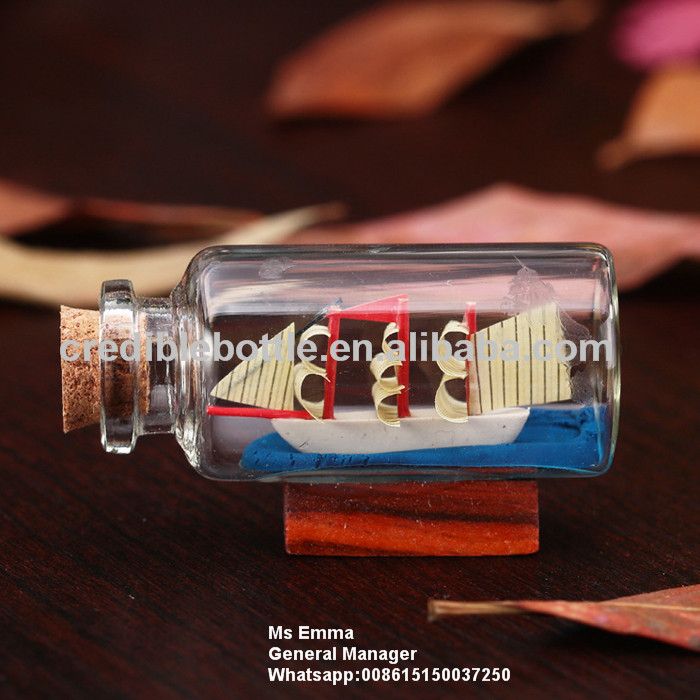 glass ship in bottle Arts and Crafts Decoration gifts