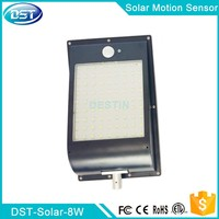 2835SMD solar security sign light 18650 battery replaceable