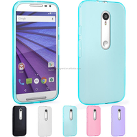 Wholesale jelly TPU gel rubber skin silicone case cover for Motorola Moto G 3rd Gen