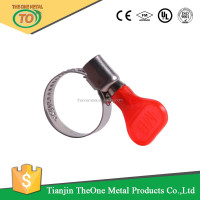 green handle german type hose clip