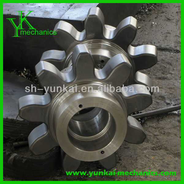 Stainless steel gear shaft, cnc forging parts, cnc machining wheel gear