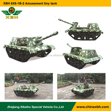 XBH 6X6-1B-2 fairground amusement park Amusement tiny tank Track Drive Electronic simulation Vehicle entertainment tank