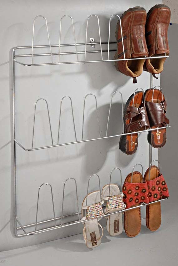 Stainless Steel Wire Standing Shoe Rack