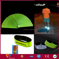Soft Pvc Material and easy to wear,adjustable Style rfid custom reflective wristband