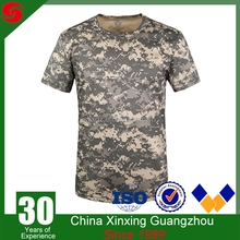 Xinxing custom new design 100% cotton wholesale military camouflage t shirt