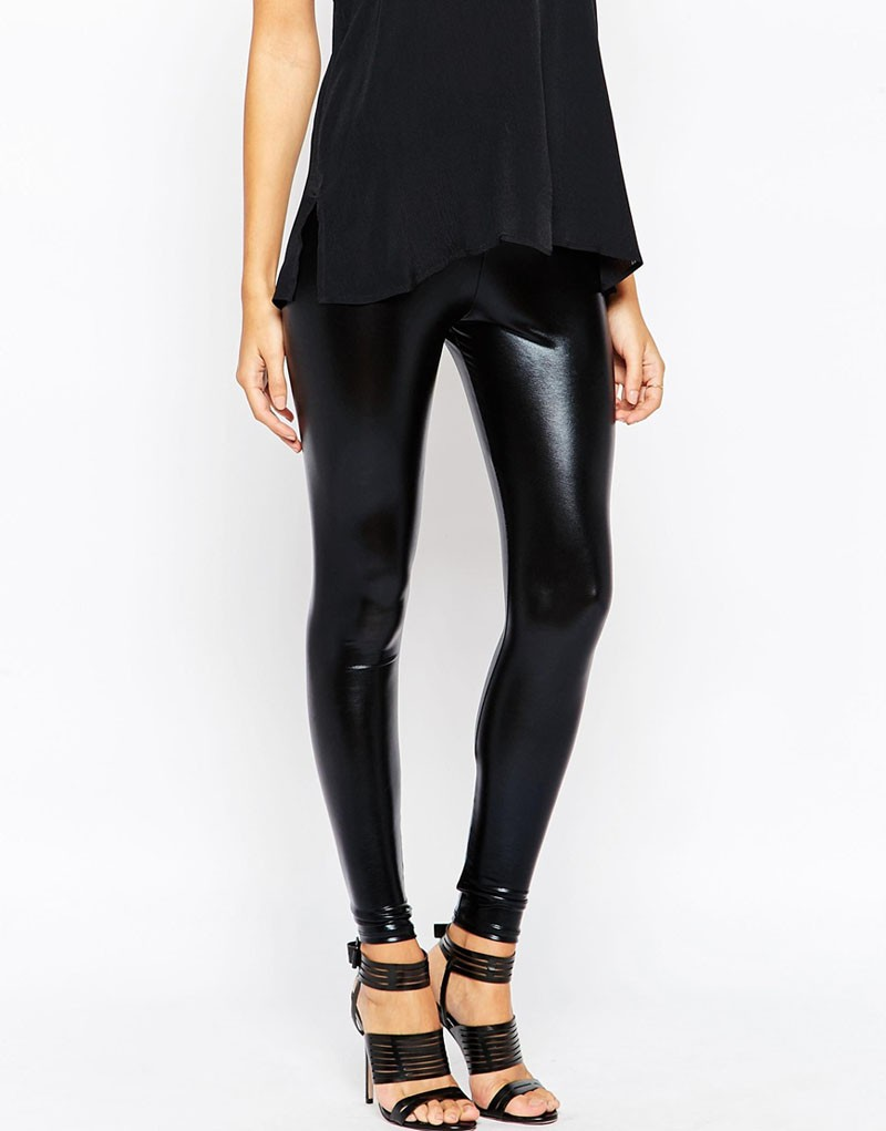 Ultra Wet Look hot slim leather pants&jegging