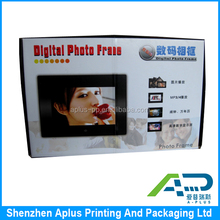 High quality white color paper box custom print photo frame packaging