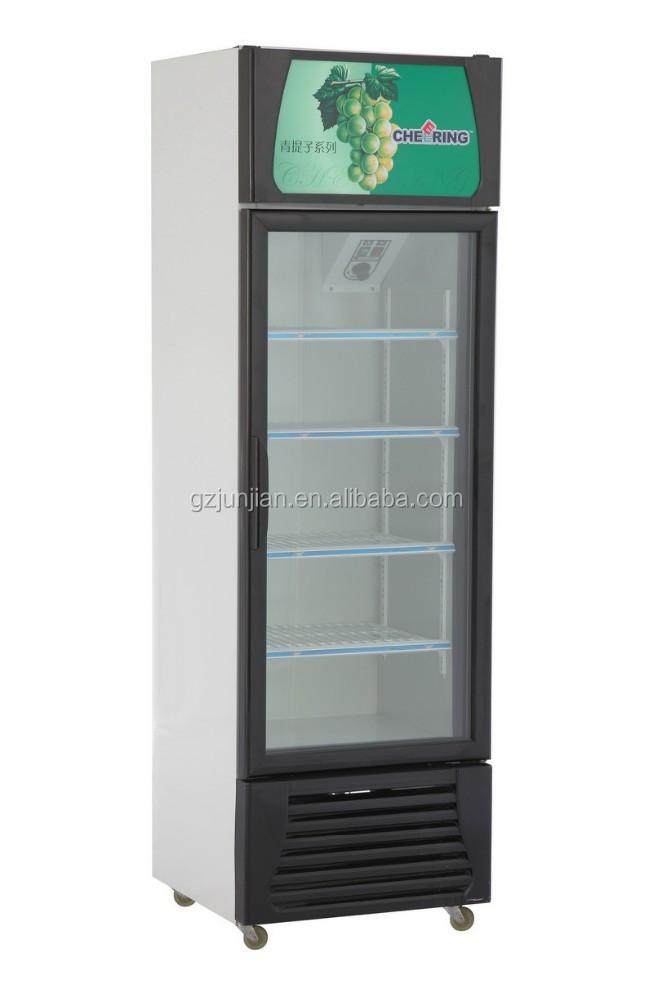 Guangzhou manufacture single door supermarket display for 1 door display chiller
