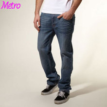 Wholesale Plain Refurbishment Jeans