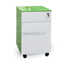 Factory for Steel Mobile File Pedestal Cabinet including pencil box castors and 3 drawers storage cabinet
