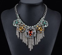 hot wholesale fashion metal alloy many layers statement yfn necklace jewelry