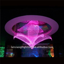 2013 hot selling -5L small size pink cheap acrylic pendant lamp for children room wholesale chandelier