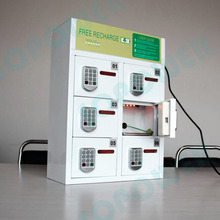 5V 5A Power Fashion design free standing public locker cell phone usb 6 ports charging station