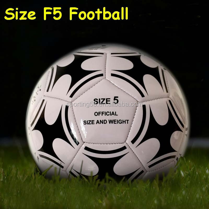 Official Size five JFFB119 White soft PU leather Butyl bladder football