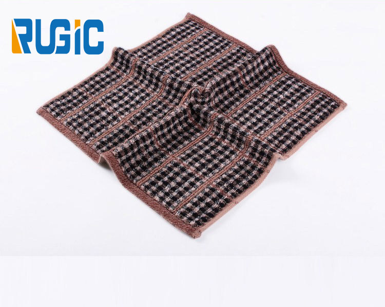 Home Portable Brand 100% Cotton Mens Hand Towel Small Check Plaid Towel For Men Travel Towel 30X30cm