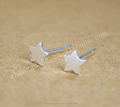 Star Ear Stud Silver Women Earrings, Hot sell silver plated earrings Fashion star design stud earrings