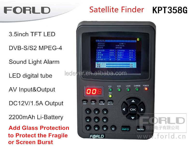 2016 Newest HD <strong>Satellite</strong> Finder Meter OEM Professional 3.5Inch Handheld <strong>Satellite</strong> Meter (KPT-358G) with PVC Screen Protector