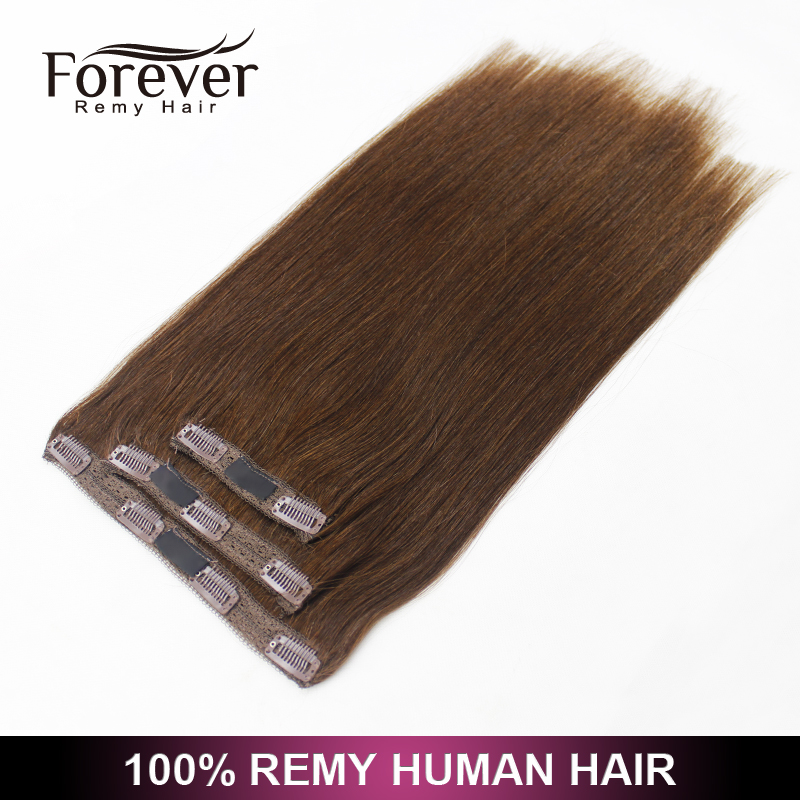 "Forver 7 piece 100% malaysian human remy hair 160g 24"" cheap kinky curly full head straight clip in hair extensions"