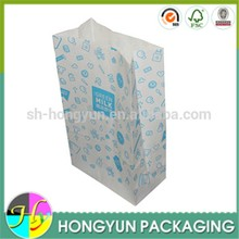Unique fast food bag PE kraft paper food packaging